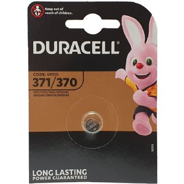 Duracell 371 D371 SR920SW 1.5V Silver Oxide Watch Battery